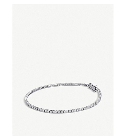 BUCHERER 高级珠宝经典18ct 白金钻石手链