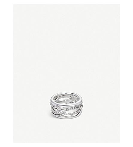 BUCHERER 高级珠宝 Vivelle 18ct 白金和钻石 RING