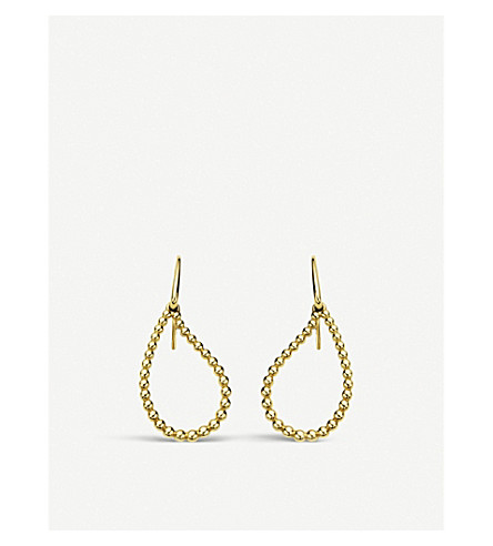 BUCHERER FINE JEWELLERY 18ct yellow-gold earrings