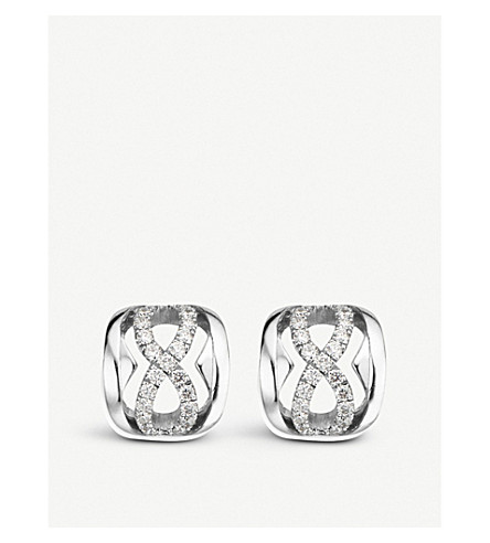 BUCHERER FINE JEWELLERY 18ct white-gold and diamond earrings