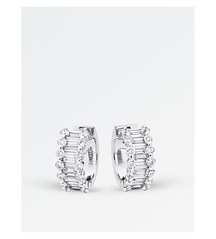 BUCHERER FINE JEWELLERY Classics 18ct white gold diamond earrings