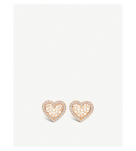 BUCHERER FINE JEWELLERY Infinite Love 18ct rose gold diamond earrings
