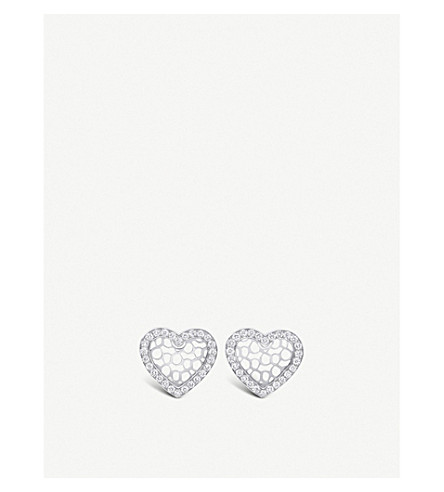 BUCHERER FINE JEWELLERY Infinite Love 18ct white gold diamond earrings