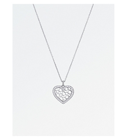 BUCHERER 高级珠宝无限爱18ct 白金钻石吊坠项链