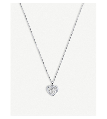 BUCHERER FINE JEWELLERY Infinite Love 18ct white-gold diamond pendant necklace