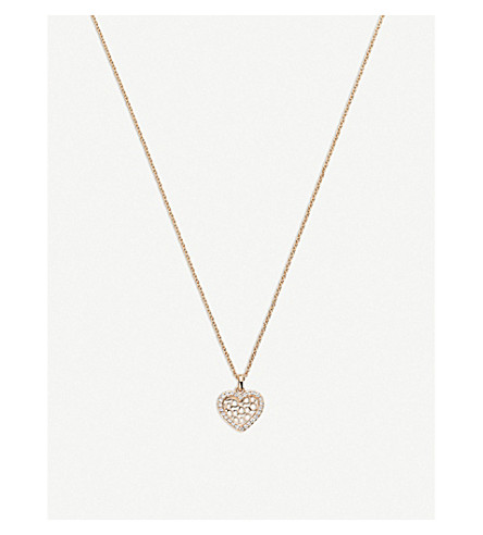 BUCHERER FINE JEWELLERY Infinite Love 18ct rose-gold diamond pendant necklace