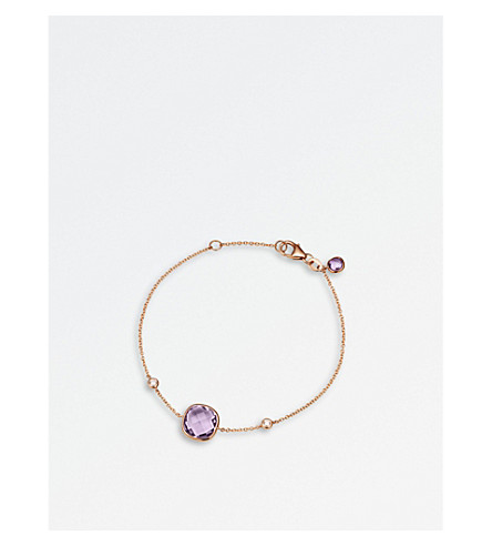 BUCHERER FINE JEWELLERY Colour Drops 18ct rose-gold diamond bracelet