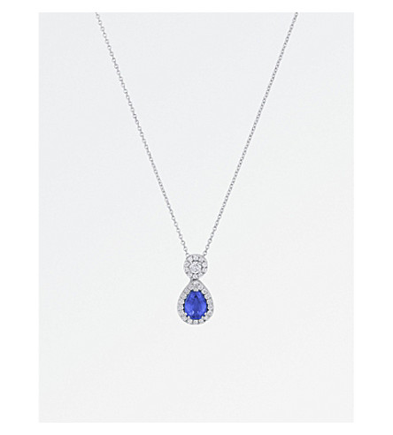 BUCHERER FINE JEWELLERY Classics 18ct white-gold diamond pendant necklace