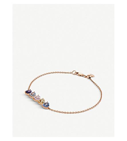 BUCHERER FINE JEWELLERY Pastello 18ct rose-gold and sapphire bracelet