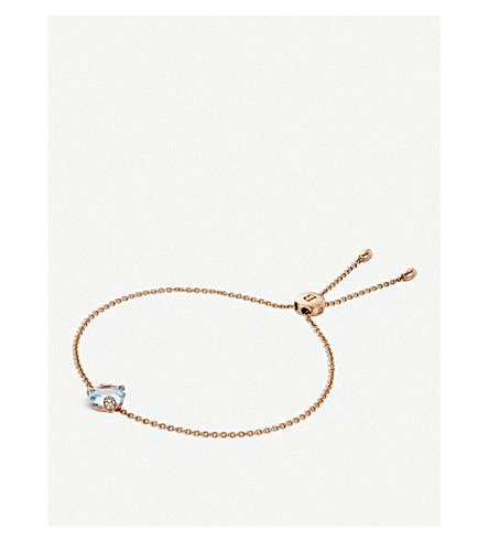 BUCHERER FINE JEWELLERY Peekaboo 18ct rose-gold, aquamarine and diamond bracelet