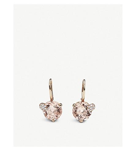 BUCHERER 高级珠宝躲猫猫18ct 玫瑰金和 morganit 耳环