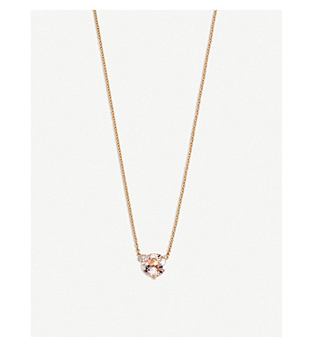 BUCHERER FINE JEWELLERY Peekaboo 18ct rose-gold and morganit necklace