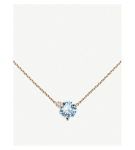 BUCHERER 高级珠宝躲猫猫18ct 玫瑰金和水项链