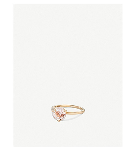 BUCHERER FINE JEWELLERY Peekaboo 18ct rose-gold, morganit and diamond ring