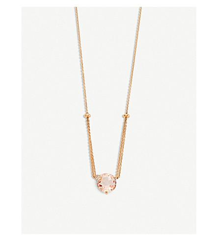 BUCHERER FINE JEWELLERY Peekaboo 18ct rose-gold, morganit and diamond necklace