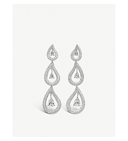BUCHERER FINE JEWELLERY 18k white-gold and diamond earrings