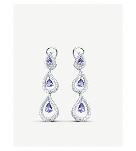 BUCHERER FINE JEWELLERY 18k white-gold and diamond earrings