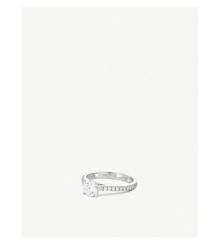 BUCHERER FINE JEWELLERY Solitaire 18K white-gold and diamond ring