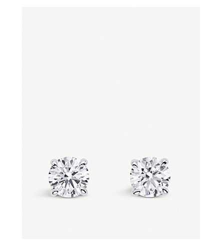 BUCHERER 高级珠宝18k 白金钻石耳环