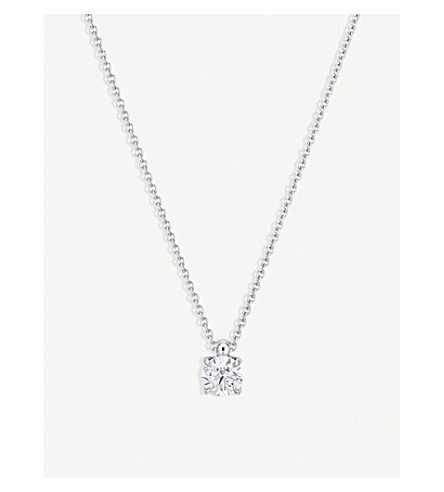 BUCHERER 高级珠宝18k 白金和钻石项链