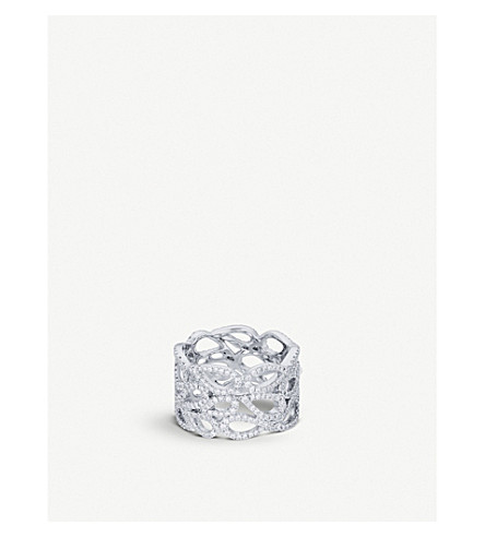 BUCHERER FINE JEWELLERY Lacrima 18ct white-gold diamond ring