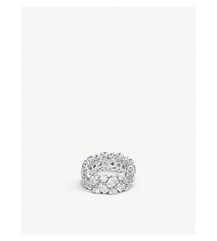 BUCHERER 高级珠宝经典18ct 白金钻石 RING