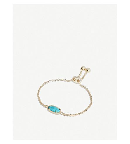 KENDRA SCOTT Elaina 14ct gold-plated Turquoise Magnesite bracelet (Turquoise