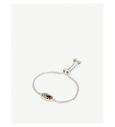 KENDRA SCOTT Elaina rhodium-plated Abalone shell bracelet (Abalone