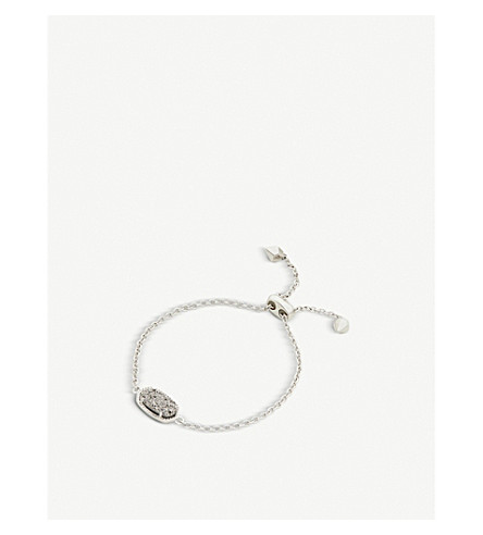 KENDRA SCOTT Elaina rhodium-plated and platinum drusy chain bracelet (Platinum