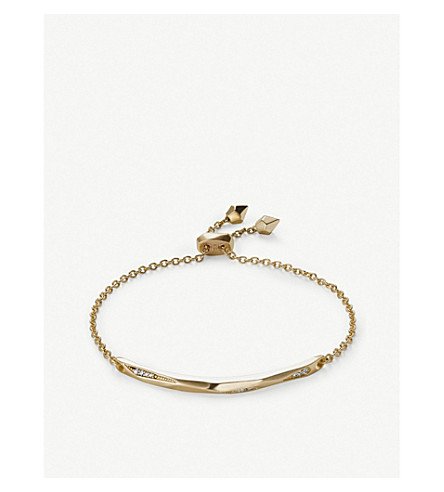 KENDRA SCOTT Angela 14ct gold-plated and cubic zirconia chain bracelet (Gold