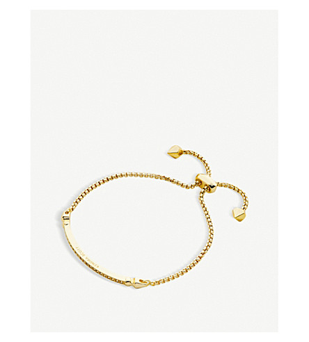 KENDRA SCOTT Ott gold-plated chain bracelet (White