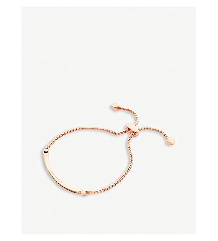 KENDRA SCOTT Ott rose gold-plated chain bracelet (White