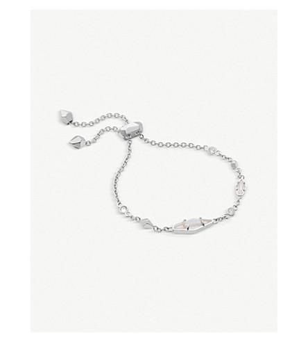 KENDRA SCOTT Deb rhodium-plated and cubic zirconia chain bracelet (Rhodium+w/+white