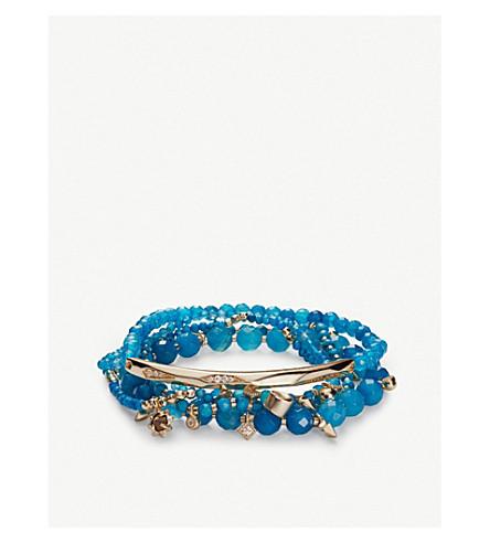 KENDRA SCOTT Supak 14ct gold-plated beaded bracelet (Gold