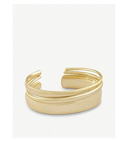 KENDRA SCOTT Tiana Pinch 14ct gold-plated bracelet (Gold