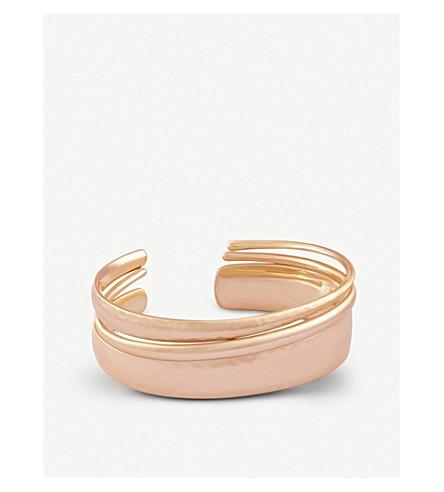 KENDRA SCOTT Tiana Pinch 14ct rose gold-plated bracelet (Rose+gold