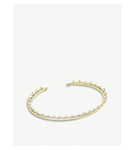 KENDRA SCOTT Codi 14ct gold-plated and cubic zirconia bracelet (White
