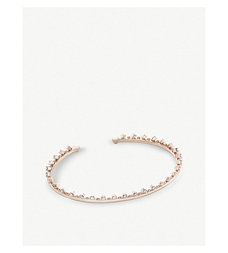 KENDRA SCOTT Codi 14ct rose gold-plated and cubic zirconia bracelet (White