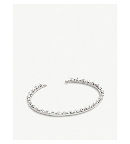 KENDRA SCOTT Codi rhodium-plated and cubic zirconia bracelet (White