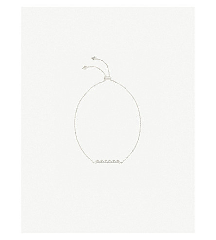 KENDRA SCOTT Molly sterling silver and diamond bracelet (14k+white+gold