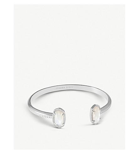 KENDRA SCOTT Elton rhodium-plated and ivory mother-of-pearl bracelet (Rhodium