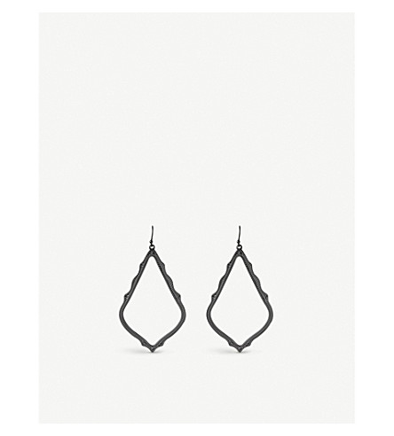 KENDRA SCOTT Sophee gunmetal-plated earrings (Black