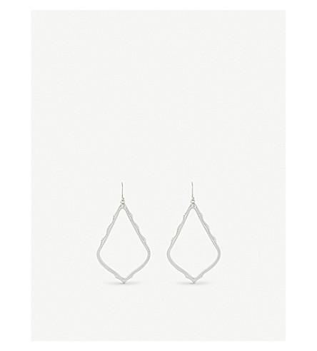 KENDRA SCOTT Sophee rhodium-plated earrings (Silver