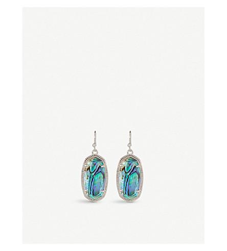 KENDRA SCOTT Dani rhodium-plated Abalone shell drop earrings (Abalone