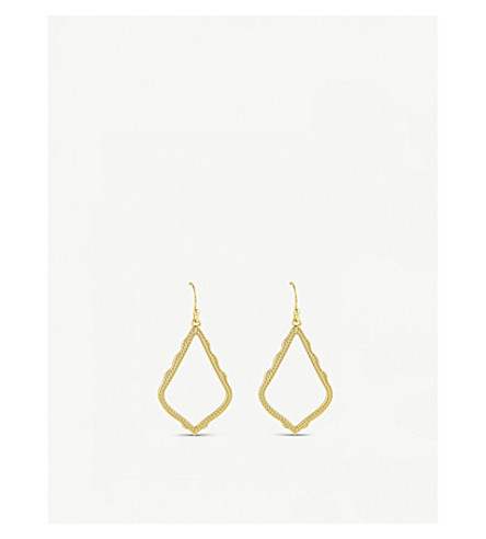 KENDRA SCOTT Sophia 14ct gold-plated drop earrings (Gold