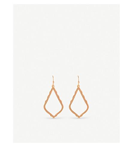 KENDRA SCOTT Sophia rose-gold plated drop earrings (Rose+gold