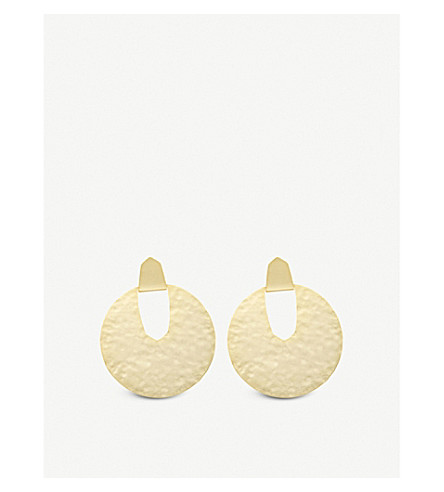 KENDRA SCOTT Diane 14ct gold-plated earrings (Gold