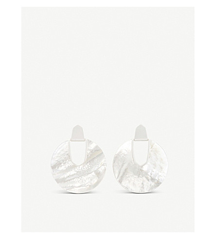 KENDRA SCOTT Diane Mother of Pearl earrings (Ivory