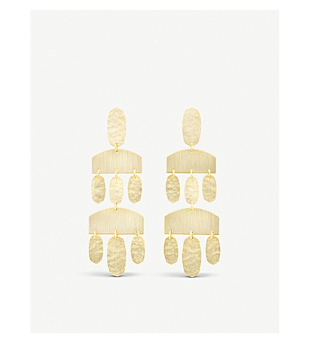 KENDRA SCOTT Emmet chandelier 14ct gold-plated earrings (Gold