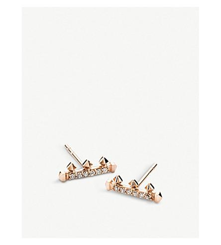 KENDRA SCOTT Dorothy 14ct rose-gold and diamond earrings (14k+rose+gold